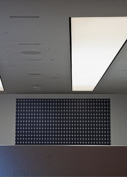 Bleak Greeting Card featuring the photograph Office Ceiling by David Buffington