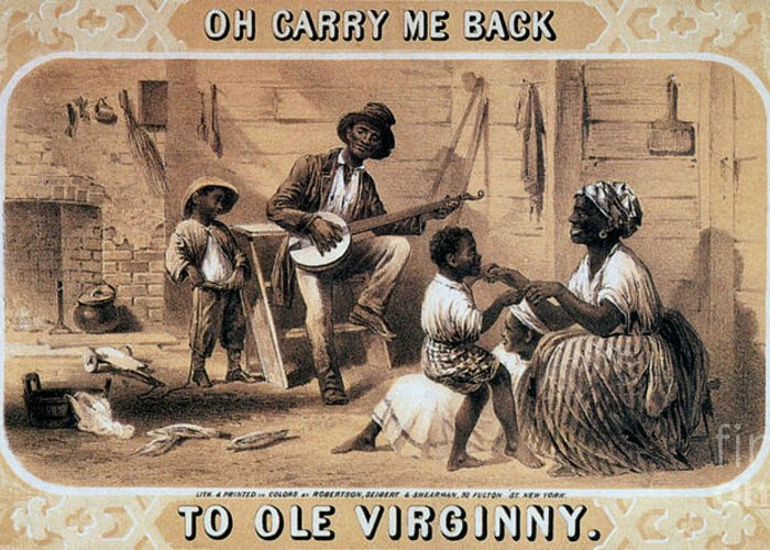 History Greeting Card featuring the photograph Oh Carry Me Back To Ole Virginny, 1859 by Photo Researchers