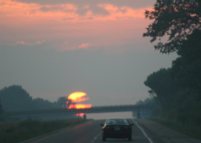 Art Gallery Greeting Card featuring the photograph Ohio Sunrise by Alexander Wahl