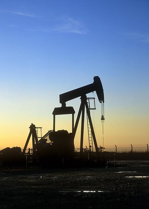 Equipment Greeting Card featuring the photograph Oil Well Pump by Martin Bond