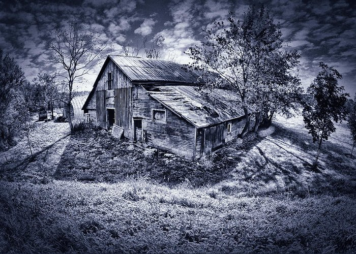 Farm Greeting Card featuring the photograph Old Barn by Donald Schwartz