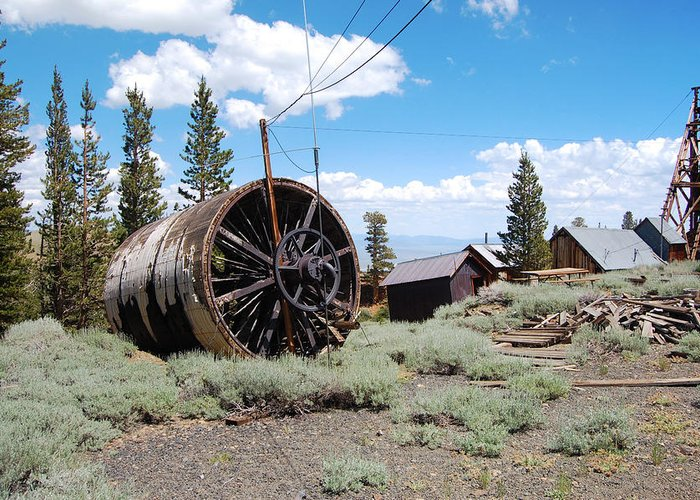 Ghost Town Photos Greeting Card featuring the photograph Old Cabin Mine by Kirk Williams