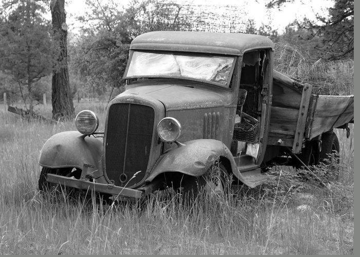 Hot Rod Greeting Card featuring the photograph Old Chevy Truck by Steve McKinzie