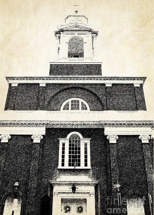 House Greeting Card featuring the photograph Old Church In Boston by Elena Elisseeva
