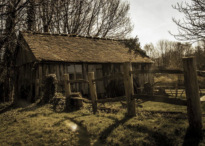Shed Greeting Card featuring the photograph Old Fashioned Shed by Dawn OConnor