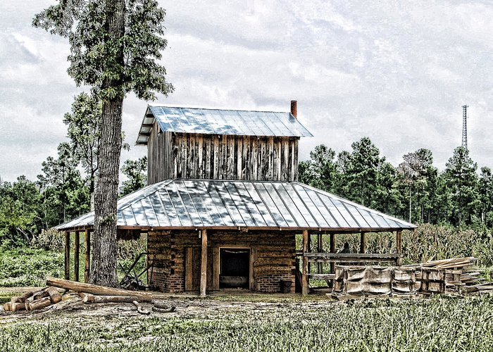 Photograph Greeting Card featuring the photograph Old Fashioned Tobacco Barn by Dwayne Graham