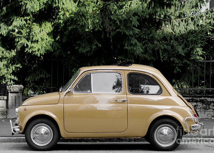 Car Greeting Card featuring the photograph Old Fiat by Mats Silvan