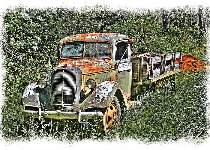 Hdr Greeting Card featuring the photograph Old Ford Flatbed by William Havle