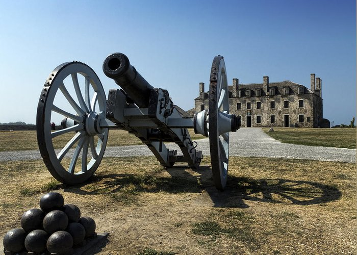 Old Fort Niagara Greeting Card featuring the photograph Old Fort Niagara by Peter Chilelli