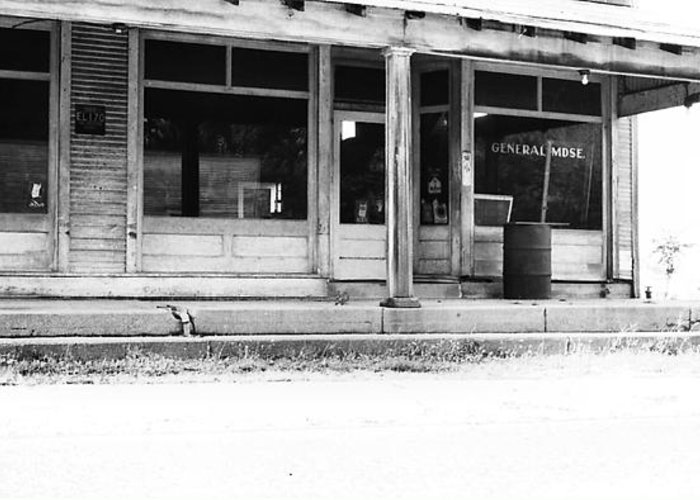 general Store Greeting Card featuring the photograph Old General Store by Mike Stanfield