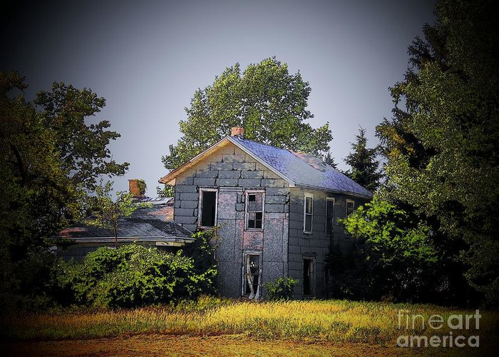 Old Homes Greeting Card featuring the photograph Old Home In Indiana by Joyce Kimble Smith