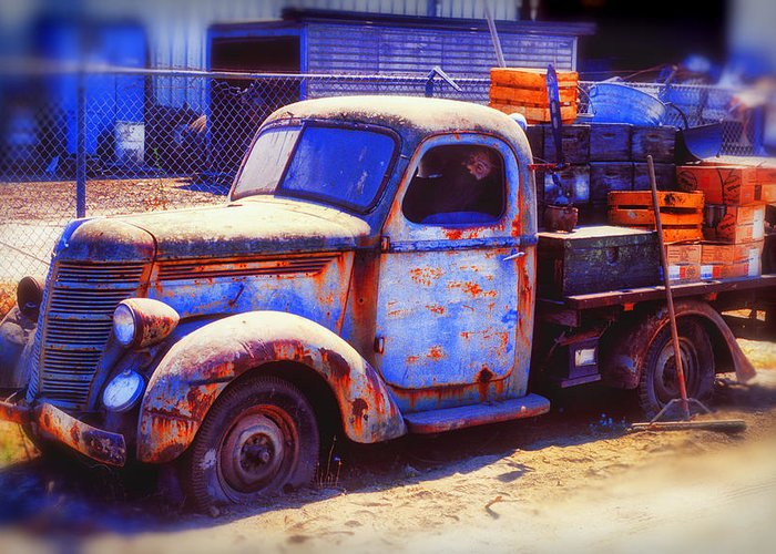 Truck Greeting Card featuring the photograph Old Junk Truck by Garry Gay
