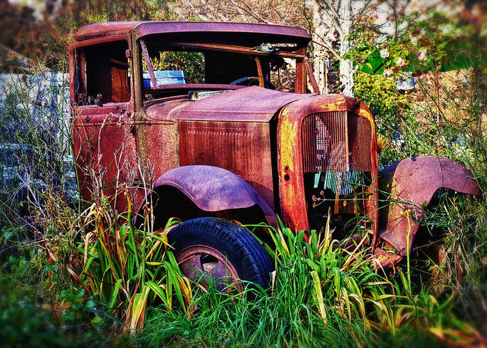 Truck Greeting Card featuring the photograph Old Rusting Truck by Garry Gay