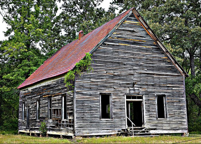 Old Buildings Greeting Card featuring the photograph Old School Alabama by Amanda Vouglas