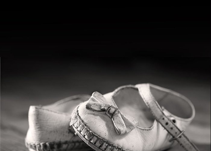 Aged Greeting Card featuring the photograph Old Shoes by Jane Rix