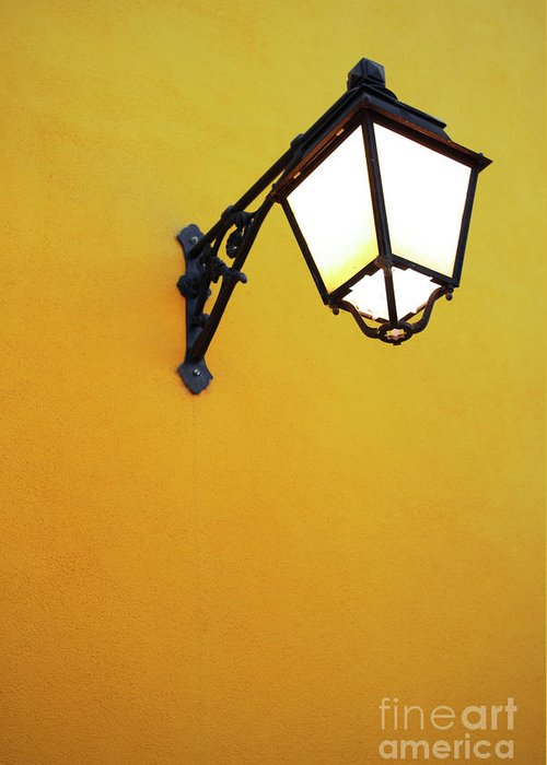 Background Greeting Card featuring the photograph Old Street Lamp by Carlos Caetano
