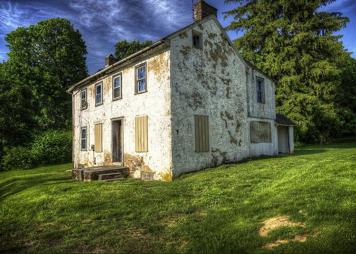 House Greeting Card featuring the photograph Old Tenants Quarters by Vicki Jauron