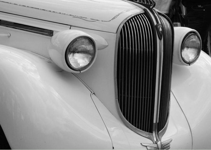 Car Greeting Card featuring the photograph Old Timer by Desiree Lyon