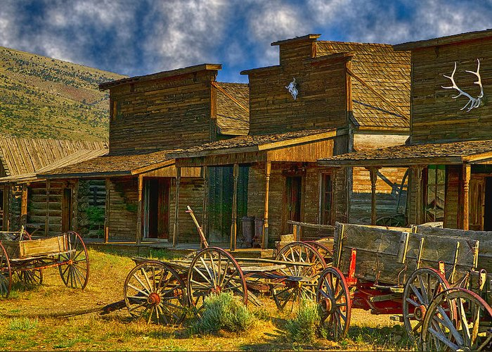 Old Town Greeting Card featuring the photograph Old Town Cody Wyoming by Garry Gay