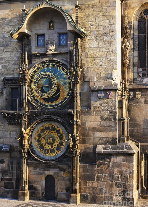 Architectural Detail Greeting Card featuring the photograph Old Town Hall Clock by Jeremy Woodhouse