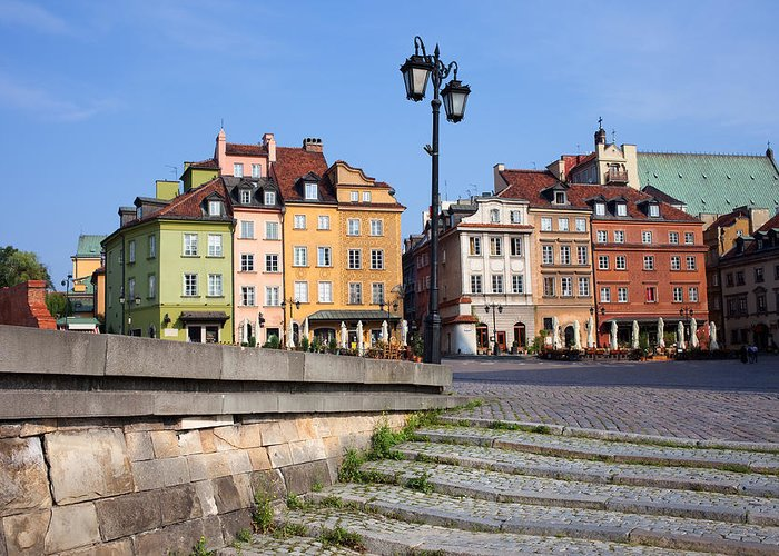 Landmark Greeting Card featuring the photograph Old Town In Warsaw by Artur Bogacki