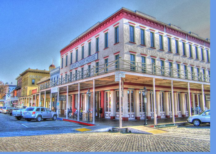 Street Corner Greeting Card featuring the photograph Old Towne Sacramento by Barry Jones