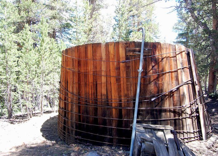 Ghost Town Photos Greeting Card featuring the photograph Old Water Tank by Kirk Williams
