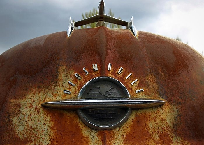 Pickup Greeting Card featuring the photograph Oldsmobile by Steve McKinzie