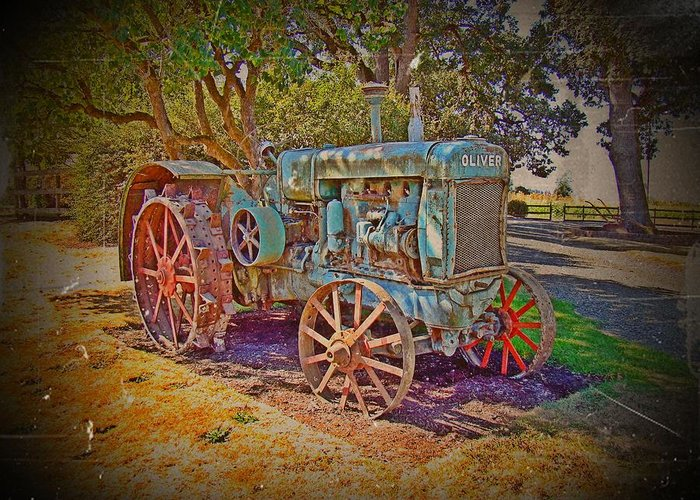 Oliver Tractor Greeting Card featuring the photograph Oliver Tractor 2 by Nick Kloepping