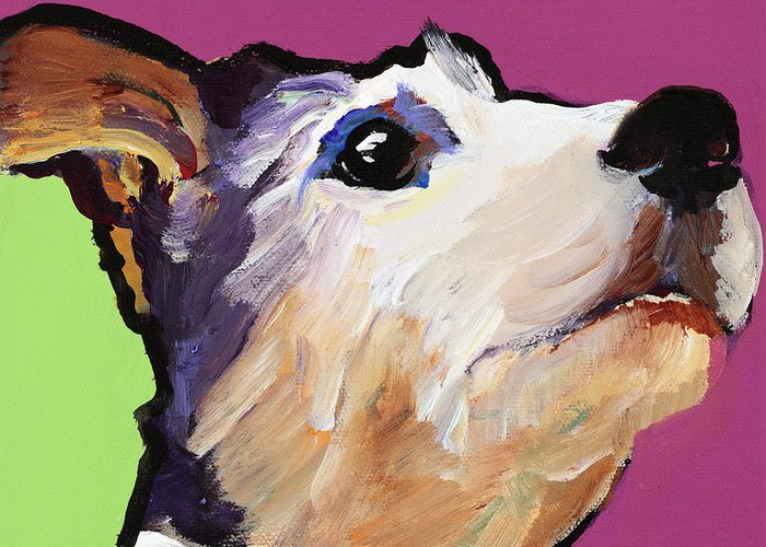 Terrier Greeting Card featuring the painting Ollie by Pat Saunders-White