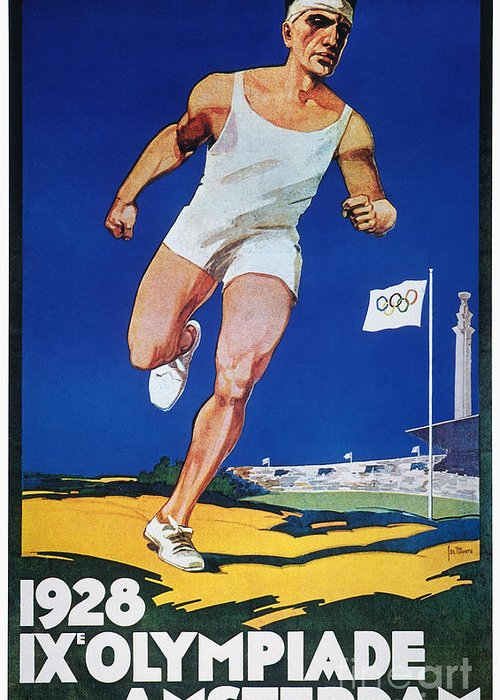 1928 Greeting Card featuring the photograph Olympic Games, 1928 by Granger