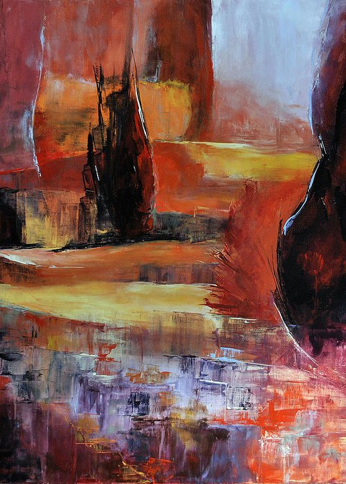 Lanscape Greeting Card featuring the painting On Dirait Le Sud by Francoise Dugourd-Caput