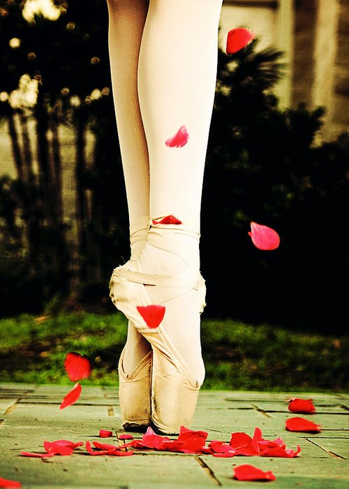 Ballet Greeting Card featuring the photograph On Point by Heather Arsement