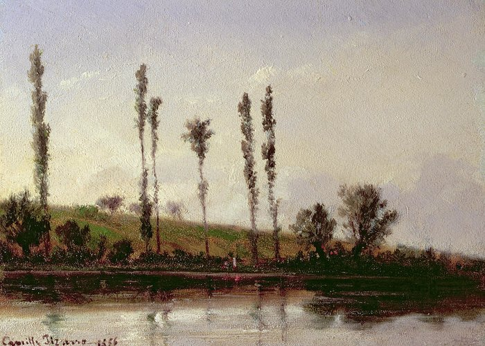 On The Outskirts Of Paris Greeting Card featuring the painting On The Outskirts Of Paris by Camille Pissarro