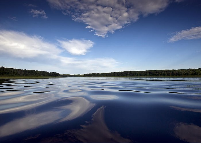 Borden Lake Greeting Card featuring the photograph On The Water by Gary Eason