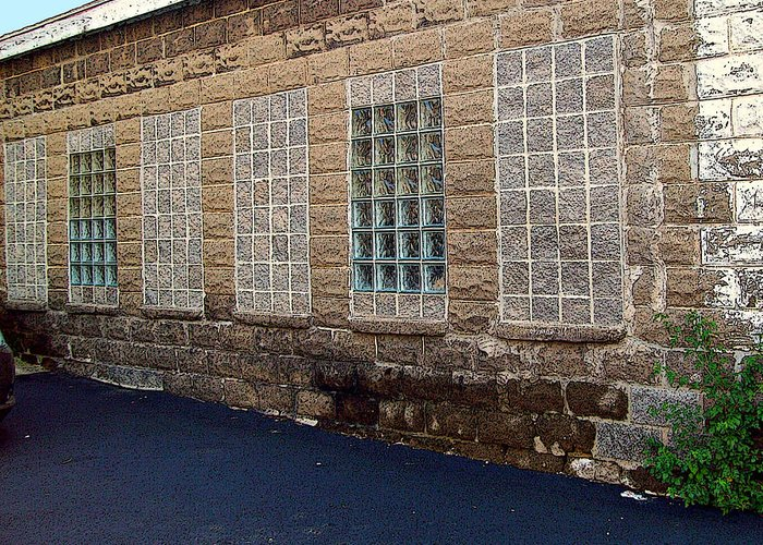 Mj Olsen Greeting Card featuring the photograph Once Were Windows by MJ Olsen