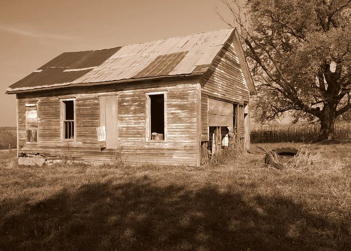 One Room School Greeting Card featuring the photograph One Room School House by Rick Rauzi