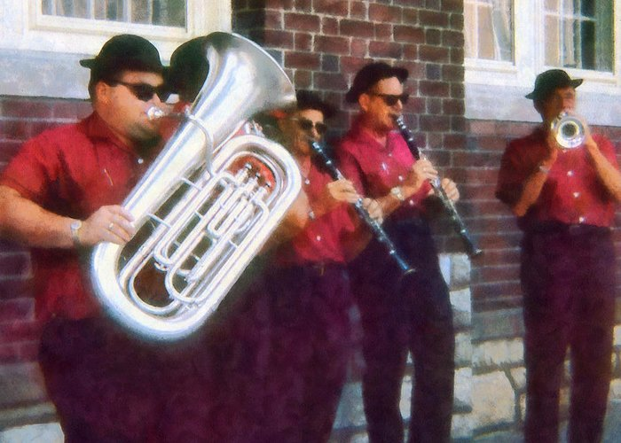 Band Greeting Card featuring the photograph Oompah Band by Susan Savad