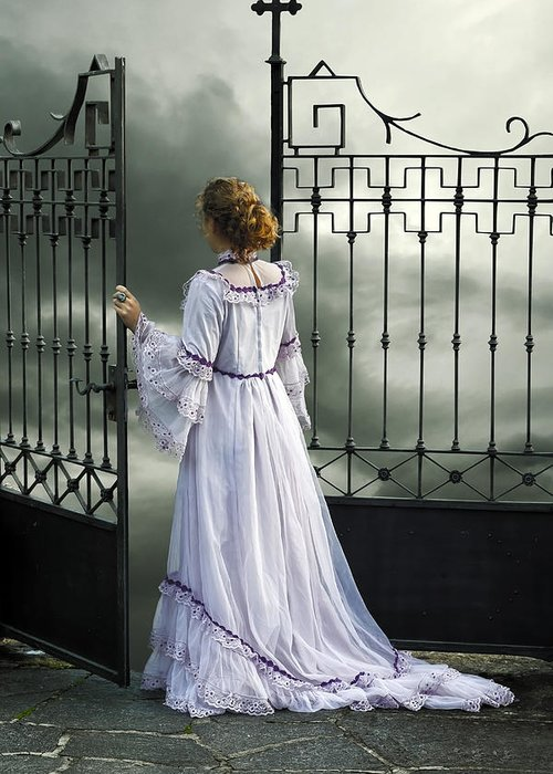 Woman Greeting Card featuring the photograph Open Gate by Joana Kruse