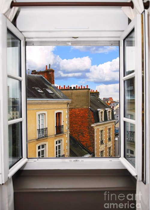 Window Greeting Card featuring the photograph Open Window by Elena Elisseeva