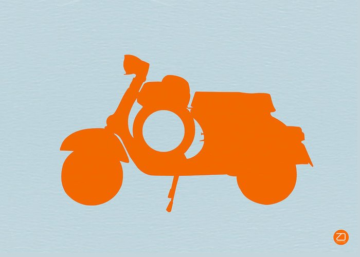 Scooter Greeting Card featuring the photograph Orange Scooter by Naxart Studio