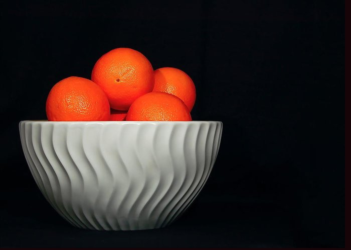 Orange Greeting Card featuring the photograph Orange Still Life by Jeannette Sheehy