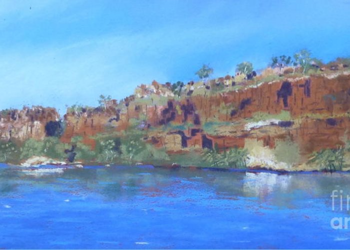 Ord River Greeting Card featuring the photograph Ord River Afteroon Cruise by Nadine Kelly