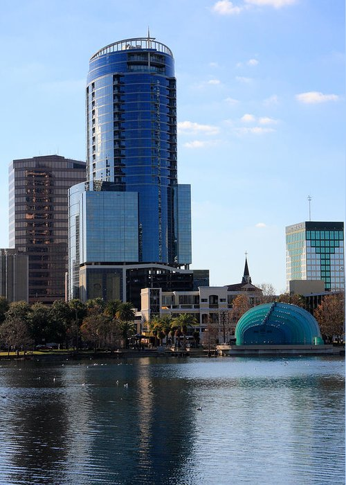 Orlando Greeting Card featuring the photograph Orlando's Lake Eola by Rick Lesquier