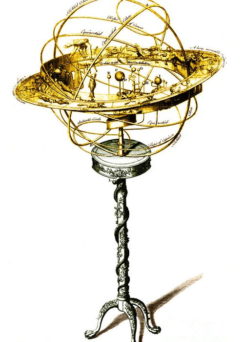 Astronomy Greeting Card featuring the photograph Orrery Illustration by Science Source