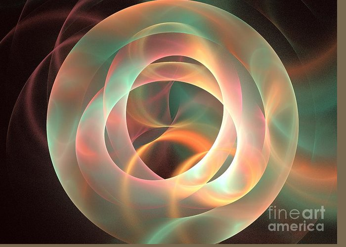 Apophysis Greeting Card featuring the digital art Orthosie by Kim Sy Ok