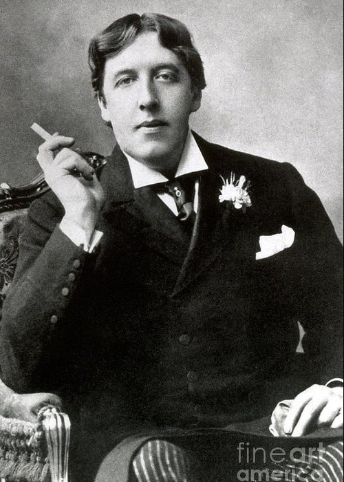 History Greeting Card featuring the photograph Oscar Wilde, Irish Author by Photo Researchers