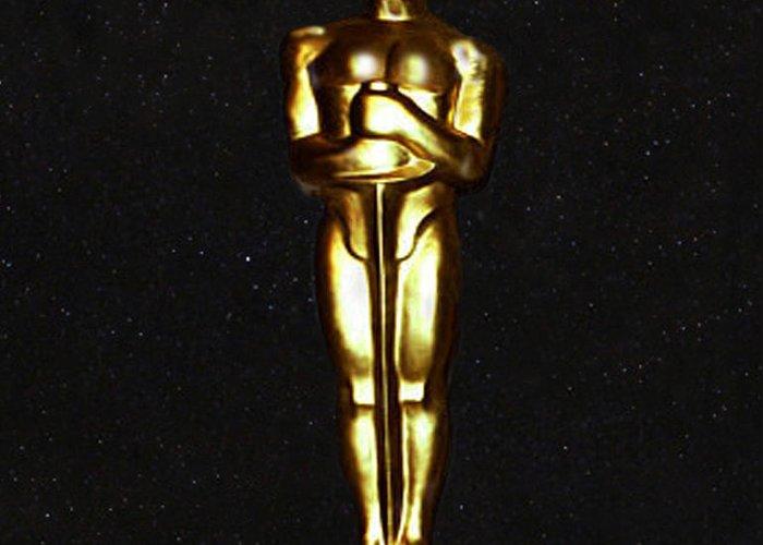 Oscars Greeting Card featuring the digital art Oscars by Eric Kempson