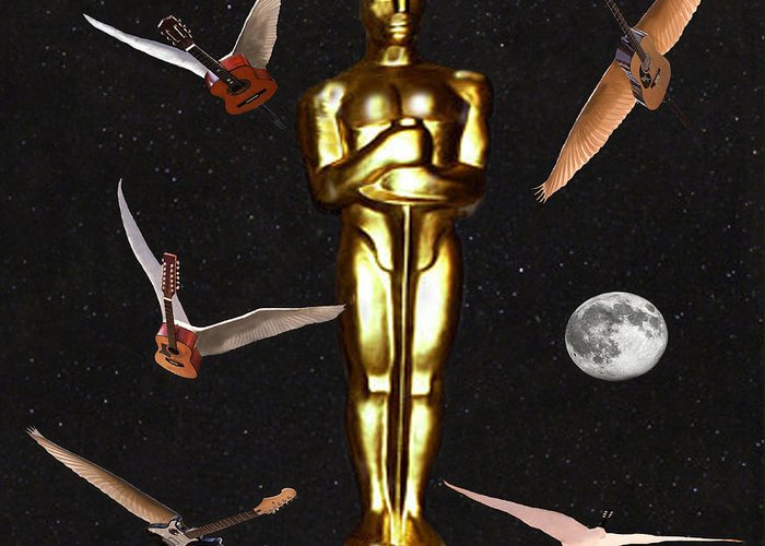 Oscars Night Out Greeting Card featuring the digital art Oscars Night Out by Eric Kempson
