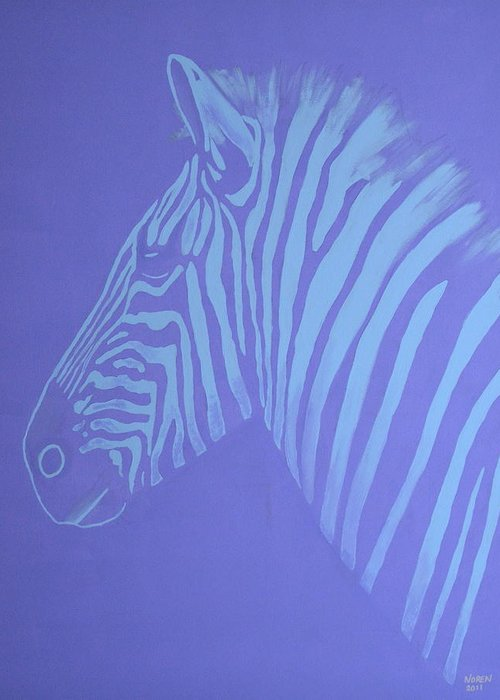 Zebra Greeting Card featuring the painting Out Of Africa by Gail Noren